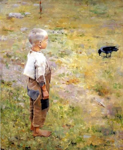 Realistic painting by Akseli Gallen-Kallela